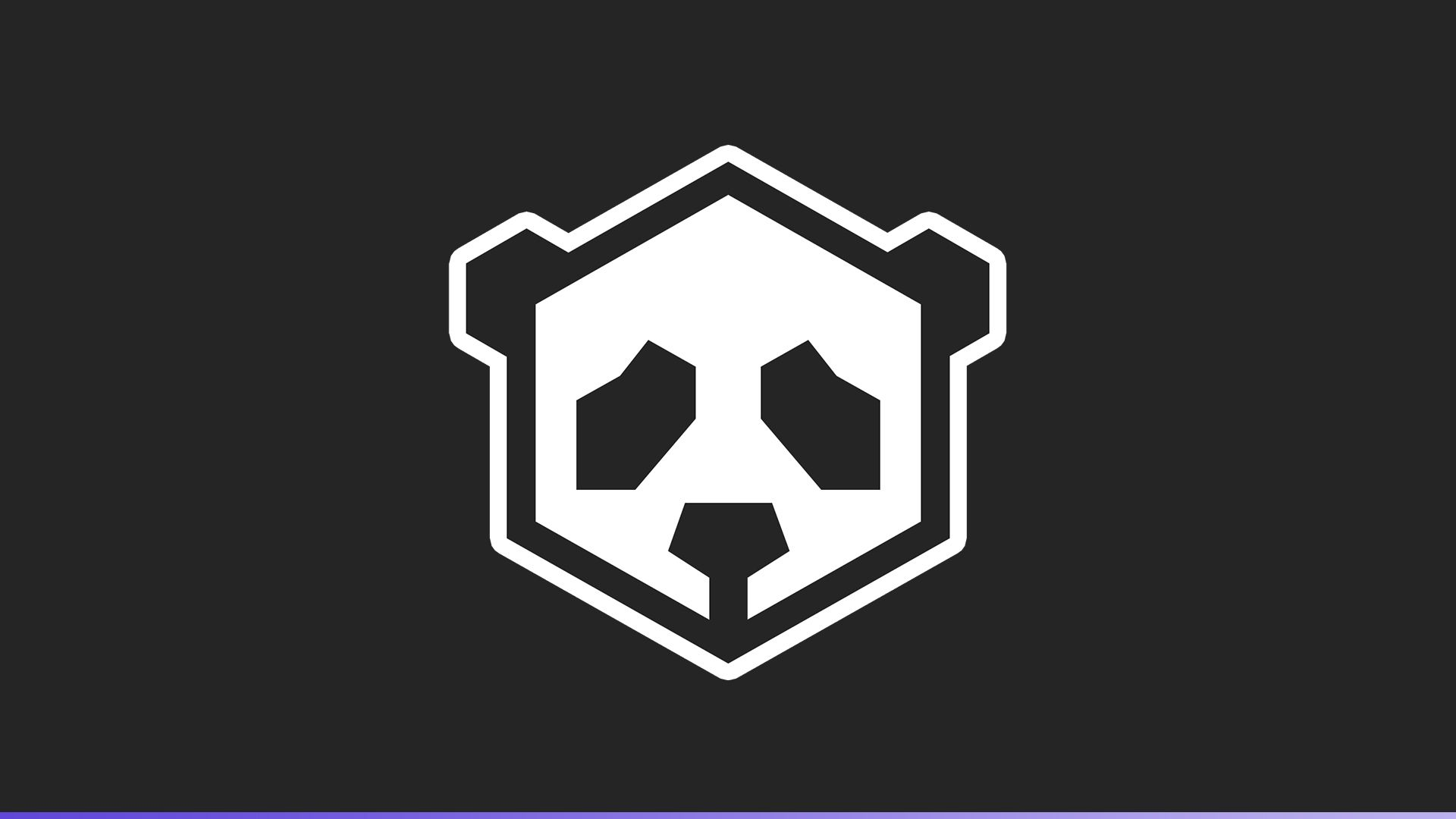 Panda3D logo which is a two-colors panda in 2D