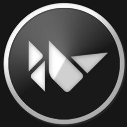 Logo of Kivy, some triangles in blak-white